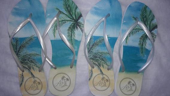 Kit 10 Pares Havaianas Top Original Personalizada Casamento