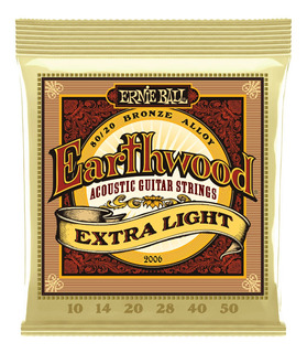 Cuerdas Ernie Ball Earthwood Para Guitarra, Extra Light Mod. 2006