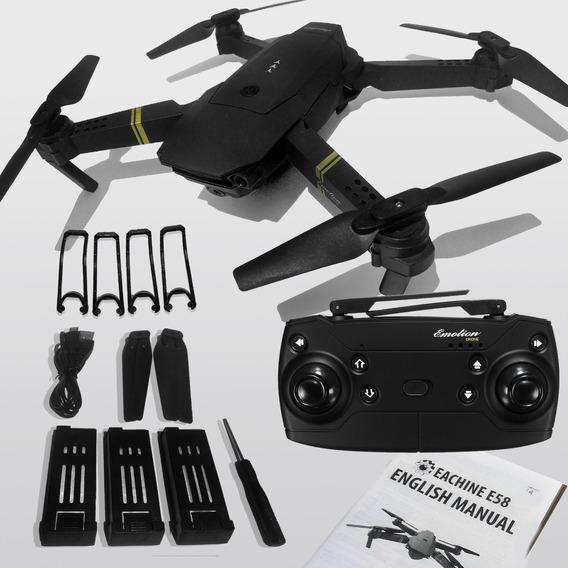 Drone E58 O Mais Vendido 3 Baterias 2mp 720p Pronta Entrega