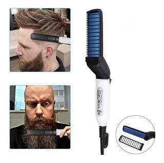 Escova Pente Alisador Modelador Cabelo E Barba Masculino