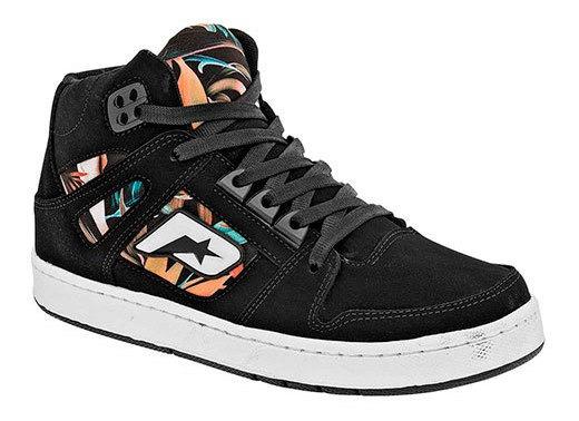 Sneaker Casual Niño Peyton Negro Sintético Bota J39809 Udt