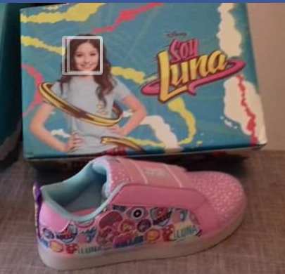 Zapatillas Elastizadas Led Soy Luna. Ultima Disponible T32.