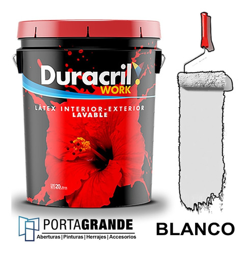 Pintura Latex Work Int/ext Duracril 10 Lts
