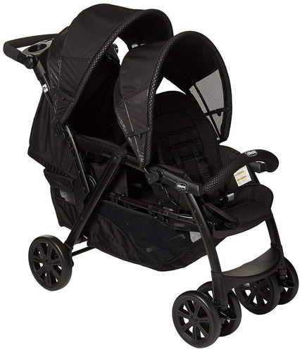 Chicco Carriola Doble Cortina Together Obsidian