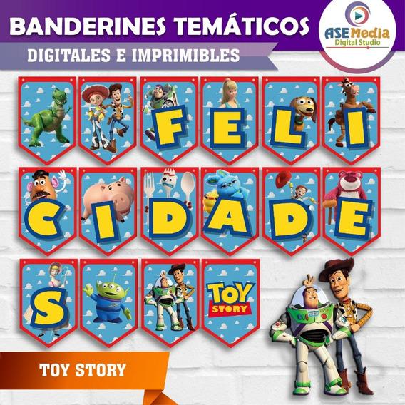 Toy Story | Banderines Temáticos Imprimibles