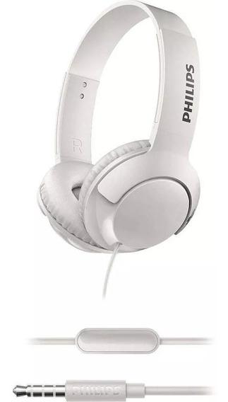 Fone De Ouvido Philips Shl3075wt/00 Bass Microfone Luxo