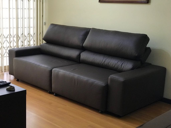 Sofa De Couro Retratil E Reclinavel 2 Modulos | Bali - 1,90m