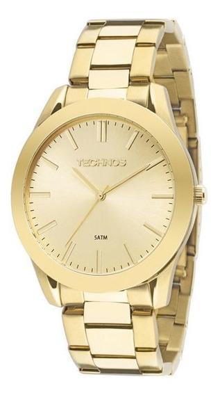 Relógio Feminino Dourado Tecnhos 2035lrs/4x