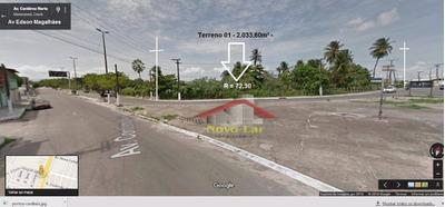 Terreno Comercial À Venda ,na Av.godofredo Maciel - Te0042
