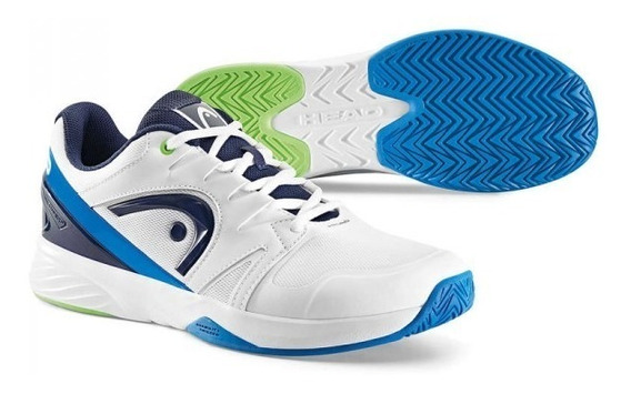 Zapatillas Head Nitro Team Bco/cel Tenis Padel (tp)
