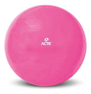 Gym Ball Acte 65cm Rosa Bola Pilates Ginastica Funcional