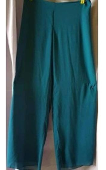 Pantalon De Gasa Forrado Colores T L A Xxl