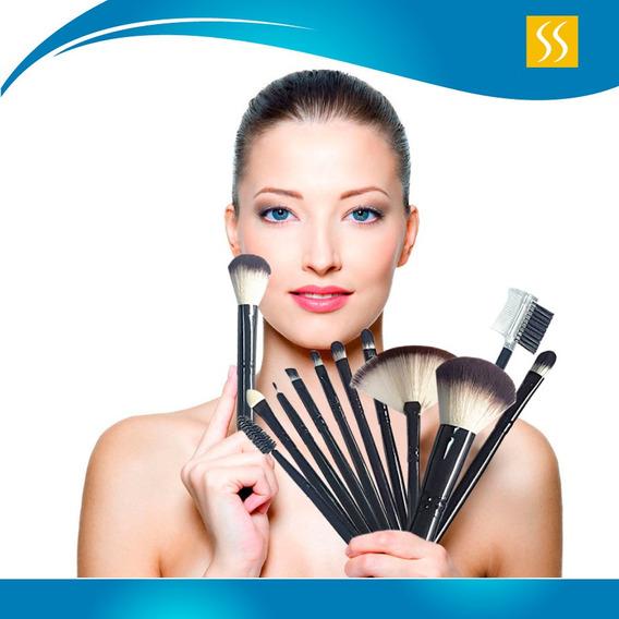 Brochas Para Maquillaje Set De 12 Pz Resistentes