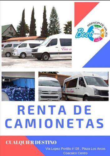 Imagen 1 de 8 de Renta De Camionetas 14 Y 20 Pasajeros