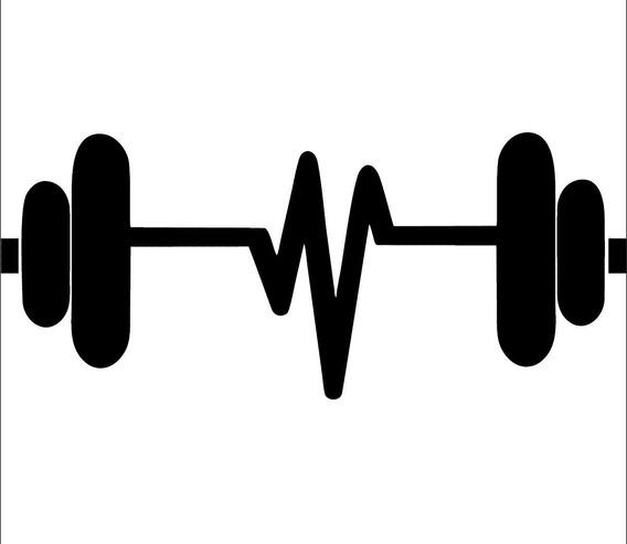 Adesivo De Parede Academia Peso Musculação Fitness 50x115 Cm