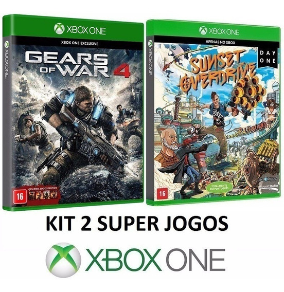 Gears Of War 4 + Sunset Overdrive - Midia Fisica - Xbox One