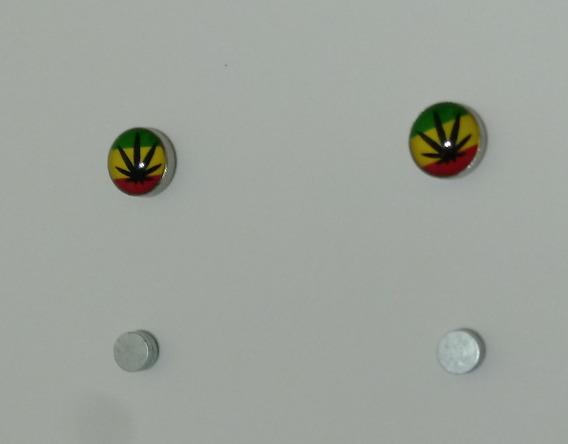 Par Brinco Imã Falso Alargador Reggae Rasta Jamaica Marley