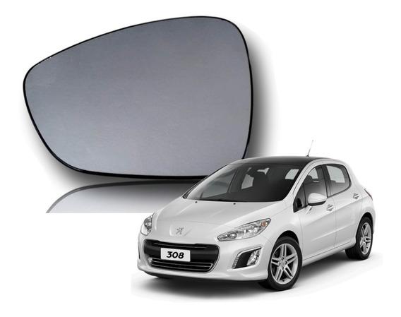 Vidro Lente Espelho Retrovisor Peugeot 308 13 14 15 Orig Esq