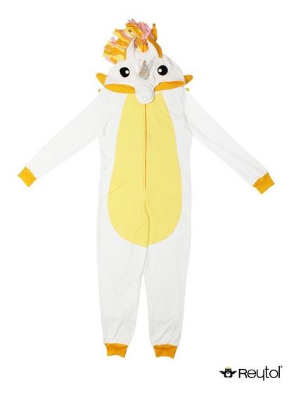 Kigurumi Pijama Unicornio Blanco Amarillo - Envío Incluido