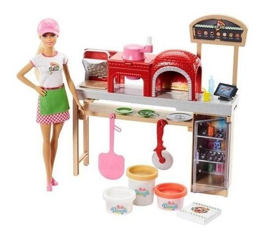 Boneca Barbie Pizzaiola Pizza Fhr09 - Mattel