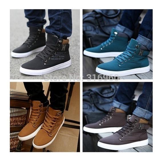 2016 Sapatos Masculino Outono Inverno Botas De Pele De Couro