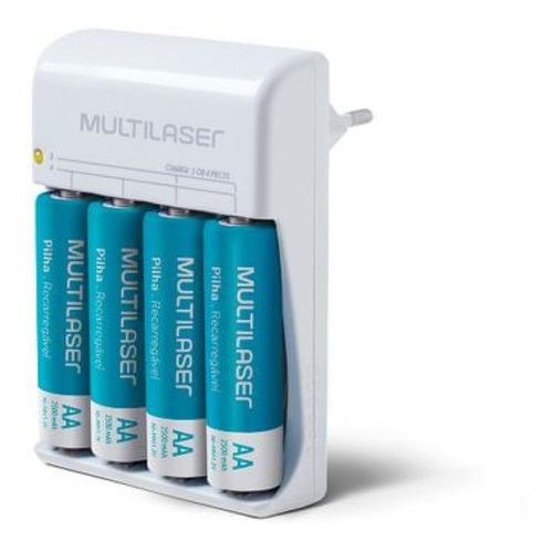 Imagem 1 de 5 de Carregador Pilhas Aa Kit Completo Longa Bateria Portátil