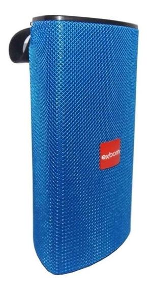 Caixa de som Exbom CS-M33BT portátil sem fio Azul