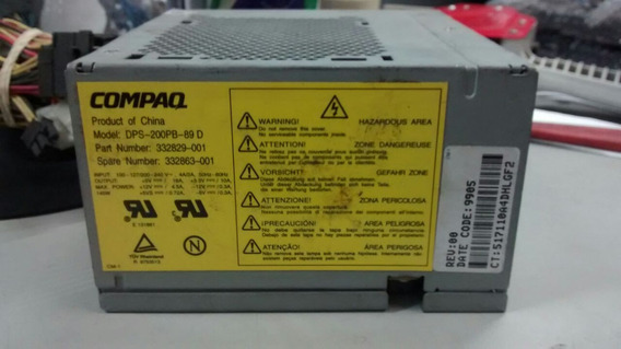 Fonte Atx 20 Pinos +sata Compaq Model:dps-200pb-89 D
