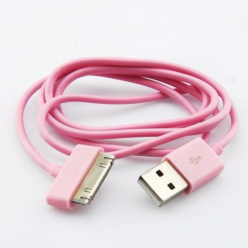 Imagen 1 de 1 de Cable Datos 1m Usb Sync iPhone 4s iPad iPod Nano Touch Lte R