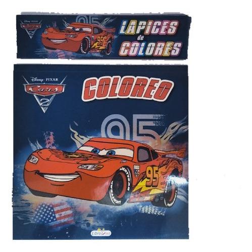 Set Colorear Disney Cars Princesas Toystory +colores +regalo