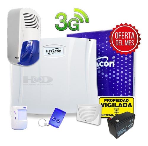 Kit Alarma Domiciliaria Inalambrica Acuda H210 3g  Gsm  A3