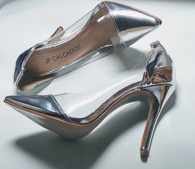 Sapato Scarpin Cristal Gold ---- Envio Até 7 Dias