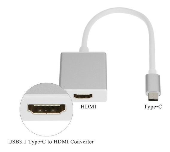 Adaptador Conversor Cabo Usb Type-c Para Hdmi