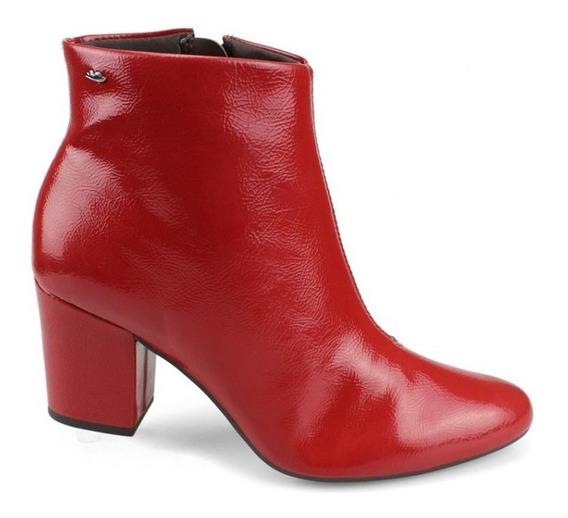 Bota Feminina Cano Baixo Vermelha Dakota G 0011