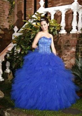 Vestido 15 Años Azul