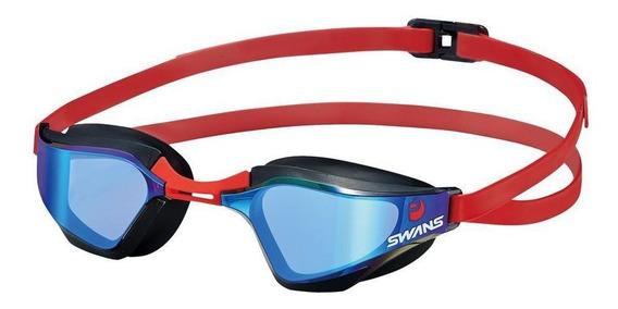 Óculos Natação Sr-72m Lente Curvada Espelhada Swans