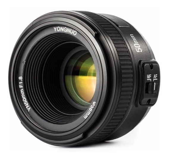 Lente Yongnuo Yn 50mm C/ Motor De Auto Foco P/ Câmeras Nikon