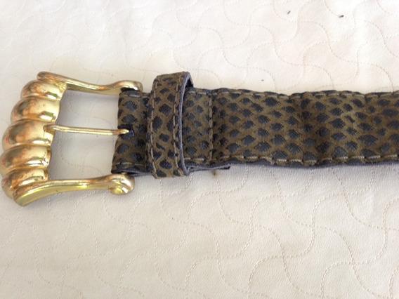 Cinturón De Dama Retro Verde Musgo Vintage