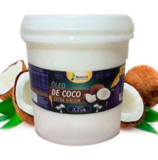 1 Óleo De Coco Extra Virgem Balde 3,2 Lts Natured + Frete