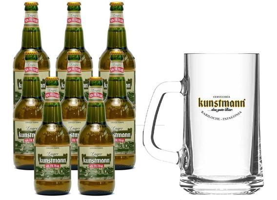 Cerveza Artesanal Kunstmann Lager 500ml X 8 Un. + 1 Chopp