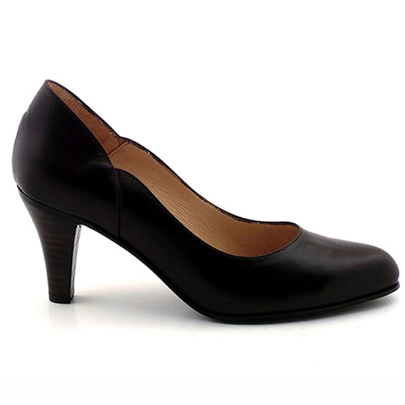 Zapato Mujer Marron Cuero Briganti Vestir Formal - Mccz03224