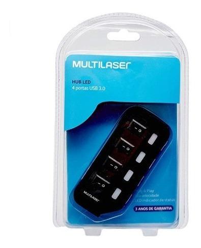 Hub Adaptador Usb 3.0 Speed Slim 4 Portas Multilaser Ac264
