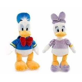 Pelúcia Pato Donald E Margarida Original Disney