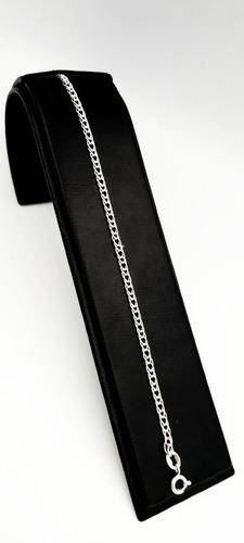 Pulsera De Pura Plata Fina Ley 925 Tejido Doble 3mm Unisex