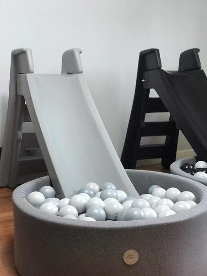 Tobogan Nordico Bebes Montessori Gris Negro Blanco