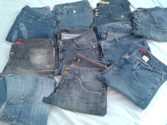 Lote 10 Calças Jeans Feminino Tm 40 Frete Gratis So Aqui