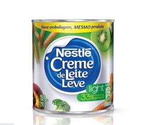 Kit 4 Latas Creme De Leite Nestlé Light 290g