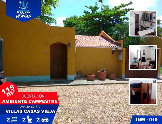 Casa Vacacional En Venta En Tucacas Morrocoy Inm-019