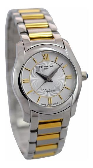 Reloj Nivada Diplomat Nvng3678lbicbr Dama Original E-watch