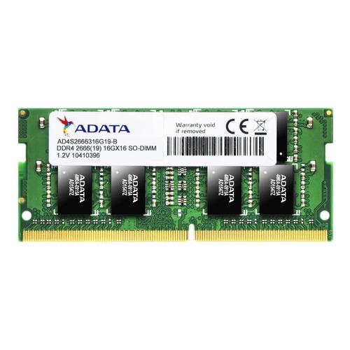 Memória Notebook 16gb Adata Ddr4 2666 Mhz Ad4s2666316g19